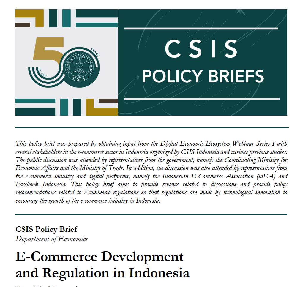 E-Commerce Development and Regulation in Indonesia